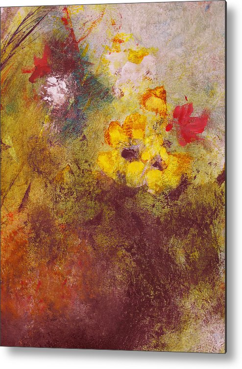 Botanical Metal Print featuring the painting Flora II by Ruth Palmer