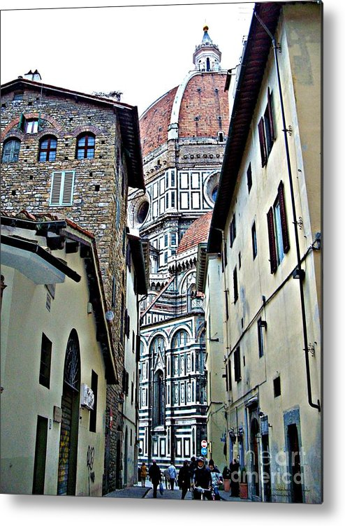 Florence Italy Metal Print featuring the photograph Florence Street by Tisha Clinkenbeard