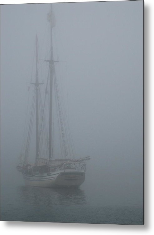 Maine Metal Print featuring the photograph Foggy Morning by Debra LePage