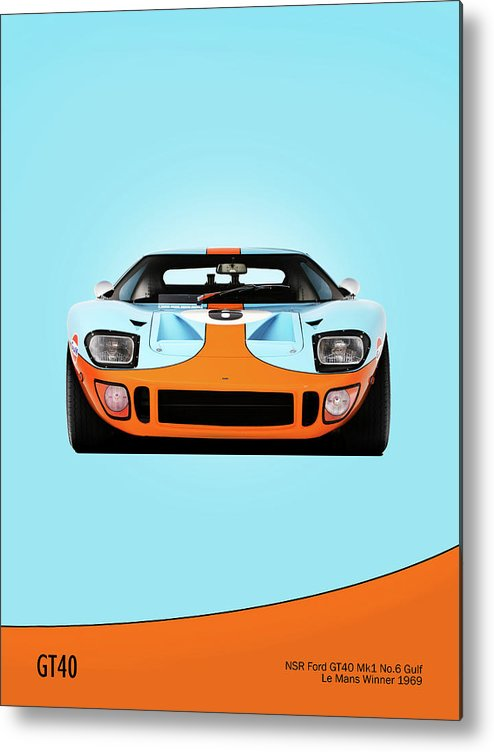Car Metal Print featuring the photograph Ford Gt40 Mk 1 by Mark Rogan
