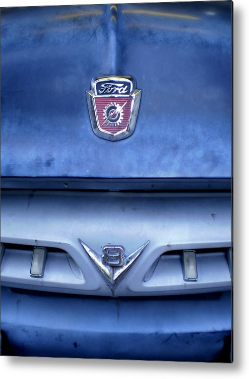Cars Metal Print featuring the photograph Ford V8 Truck by Jan Amiss Photography