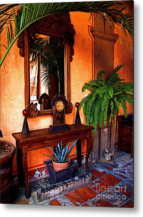 Mexico Metal Print featuring the photograph Forgotten Foyer by Mexicolors Art Photography