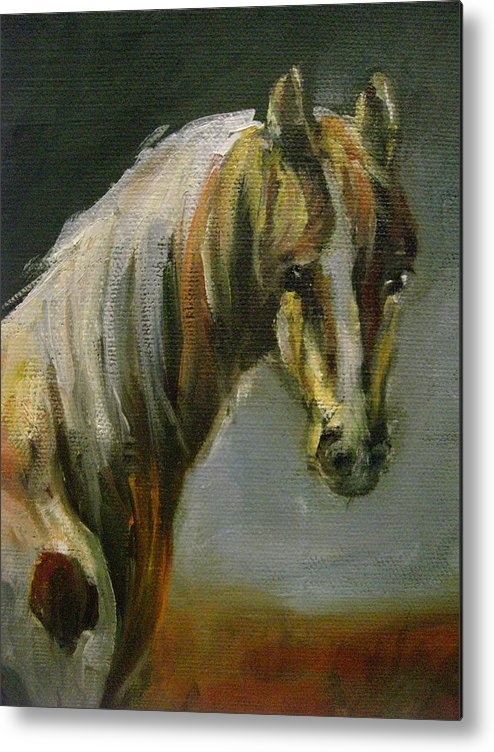 Horse Metal Print featuring the painting Freedom by Nancy Atherton Cheadle
