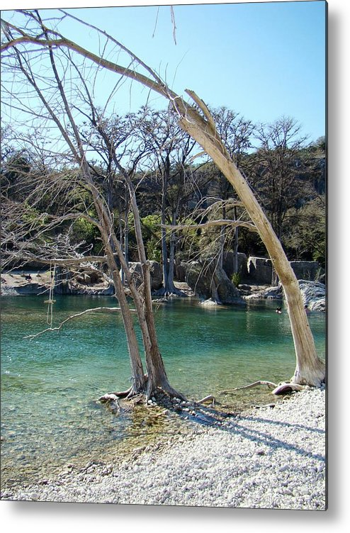 Frio River Metal Print featuring the photograph Frio One by Ana Villaronga