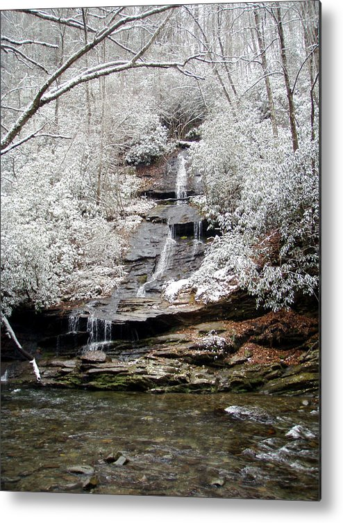 Ice Metal Print featuring the photograph Frozen Falls by Jessica Breen