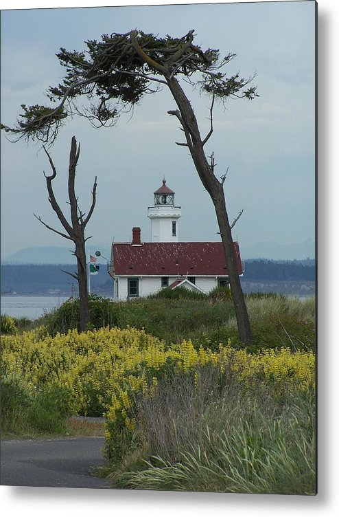 Light House Metal Print featuring the photograph Ft. Warden Lighthouse by Gene Ritchhart