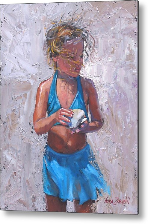 Young Girl Metal Print featuring the painting Gabby by Laura Lee Zanghetti