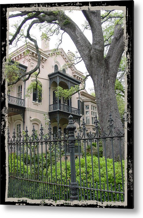 New Orleans Metal Print featuring the photograph Garden District House by Linda Kish