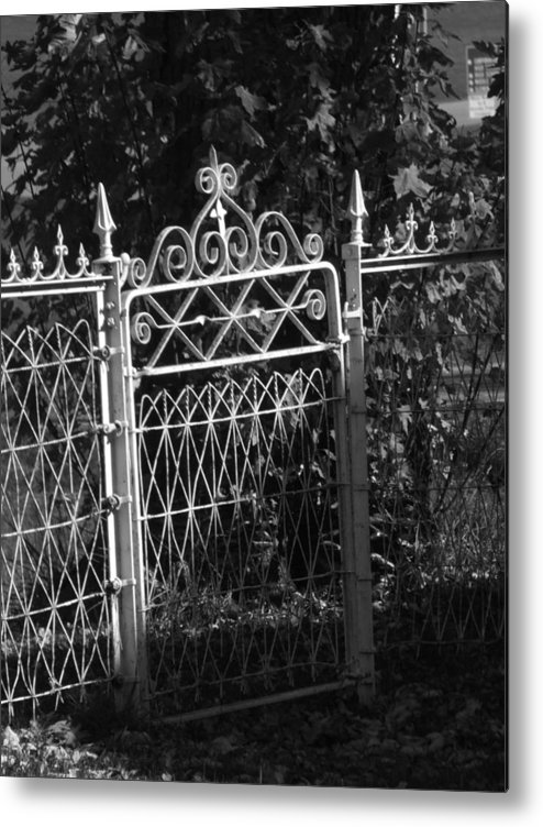 Garden Metal Print featuring the photograph Garden Gate by Michael L Kimble