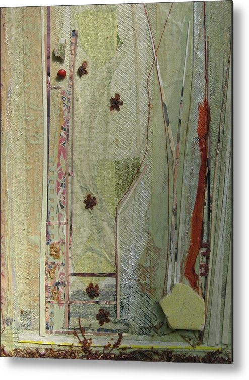 Landscape Metal Print featuring the mixed media Garden View by Gail Hinchen