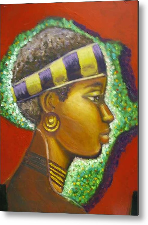 Gem Of Africa Metal Print featuring the painting Gem Of Africa by Jan Gilmore