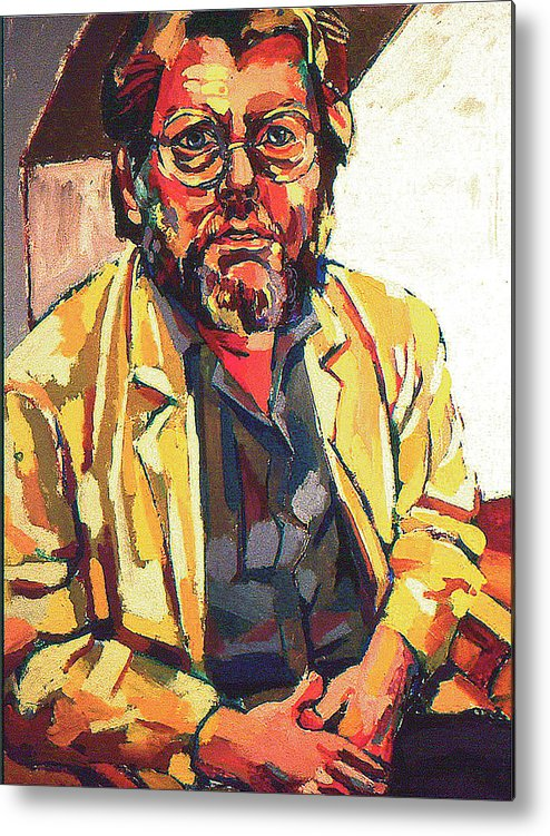 Portrait Of Artist Metal Print featuring the painting Gerry by Doris Lane Grey