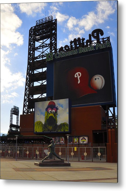 Sports Metal Print featuring the photograph Go Phillies - Citizens Bank Park - Left Field Gate by Bill Cannon