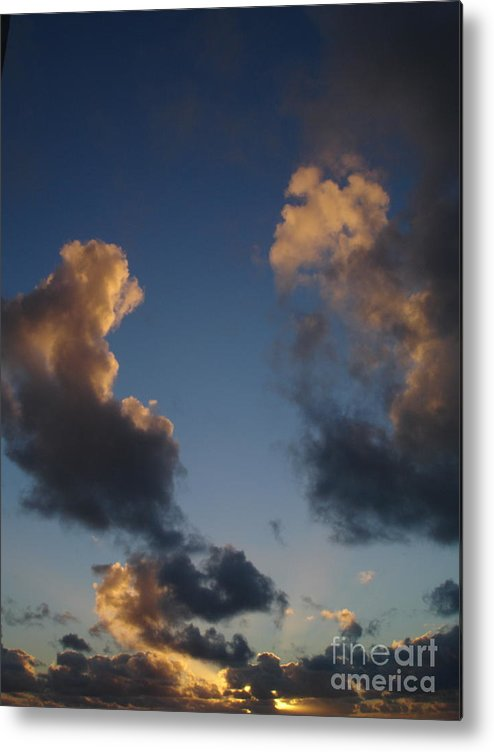 Sunset Metal Print featuring the photograph Gold Clouds by Chad Natti