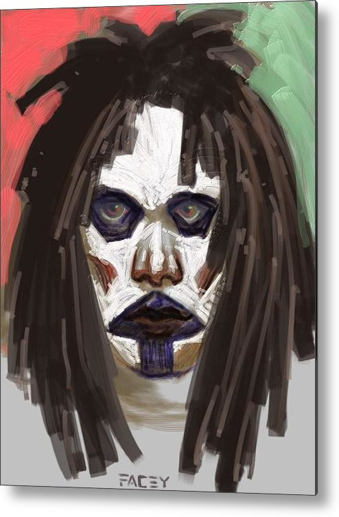 Portrait Metal Print featuring the painting Gothic Dread by Michael Facey