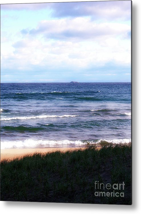 Little Presque Isle Metal Print featuring the photograph Granite Island by Phil Perkins