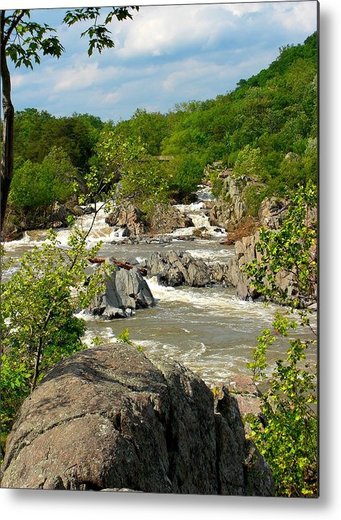Waterfall Metal Print featuring the photograph Great Falls by Caroline Urbania Naeem
