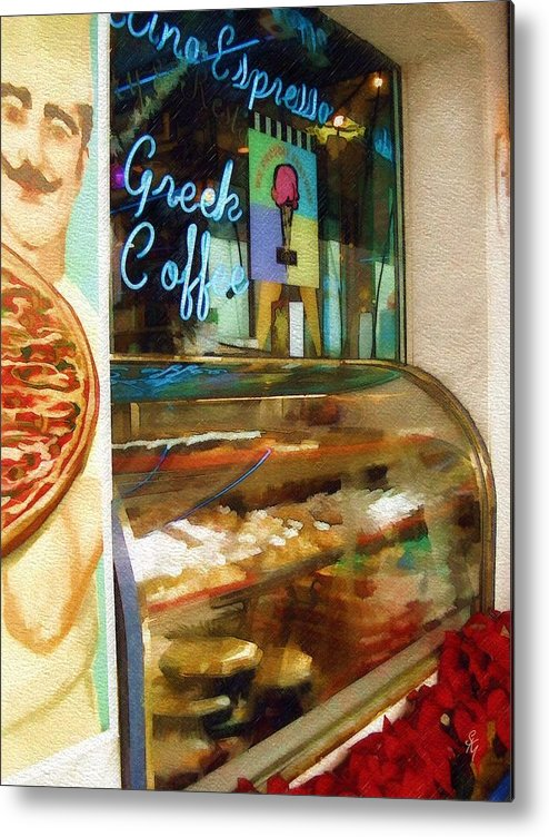 Greek Metal Print featuring the photograph Greek Coffee by Sandy MacGowan