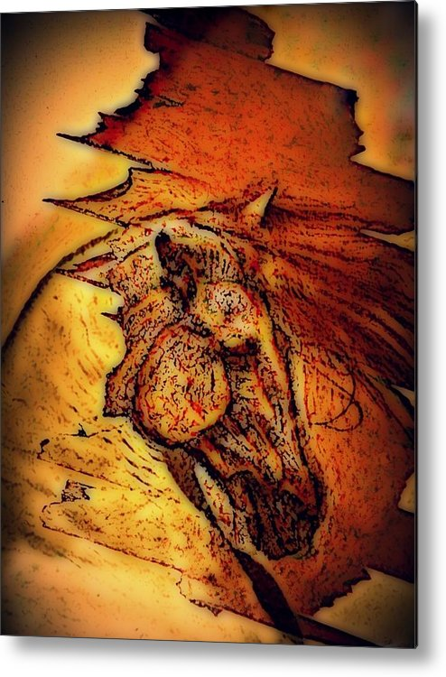 Greek Horse Metal Print featuring the digital art Greek Horse by Paulo Zerbato