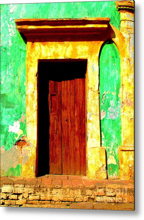 Darian Day Metal Print featuring the photograph Green Wall By Darian Day by Mexicolors Art Photography