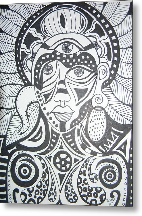 Abstract Drawings Metal Print featuring the drawing Heartfelt by Dawn Siler