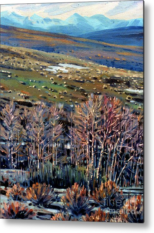 High Sierra Metal Print featuring the painting High Sierra by Donald Maier