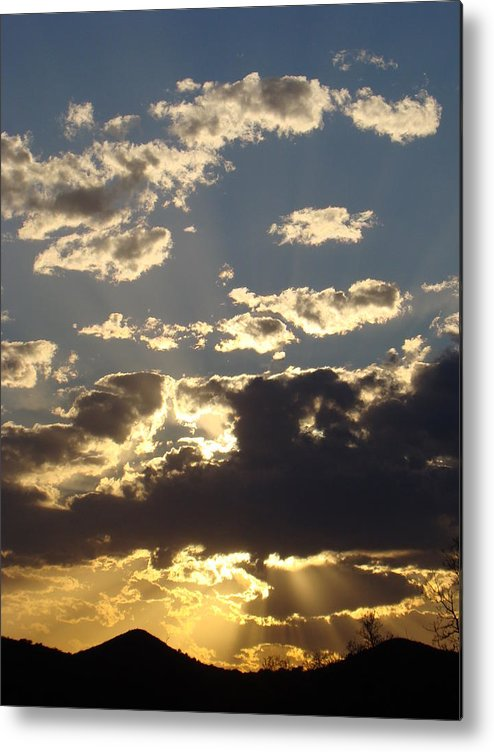 Sunset Metal Print featuring the photograph Hillcountry Sunset One by Ana Villaronga