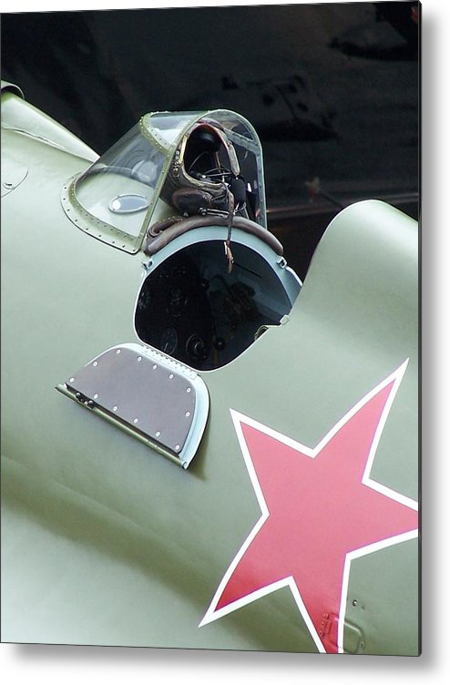 Ww2 Fighter Metal Print featuring the photograph I-16 Rata Cockpit Door by Gene Ritchhart