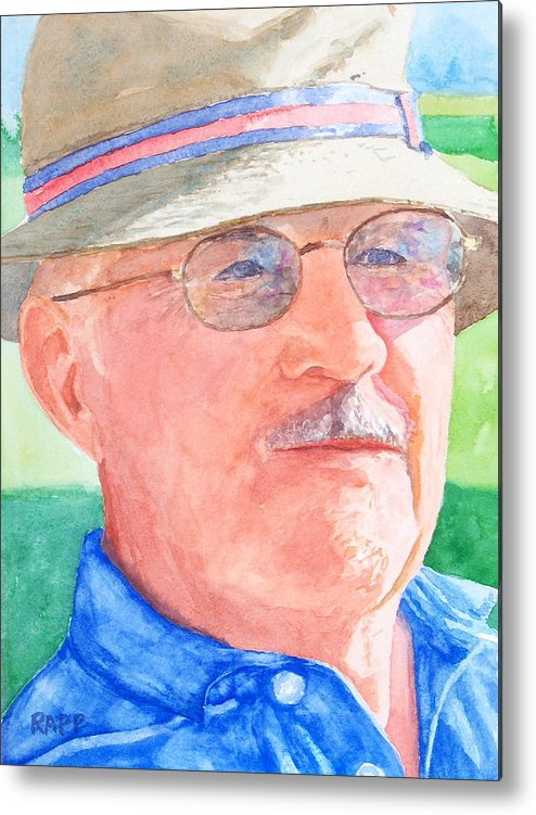 Figure Metal Print featuring the painting I Love Golf by Jan Rapp