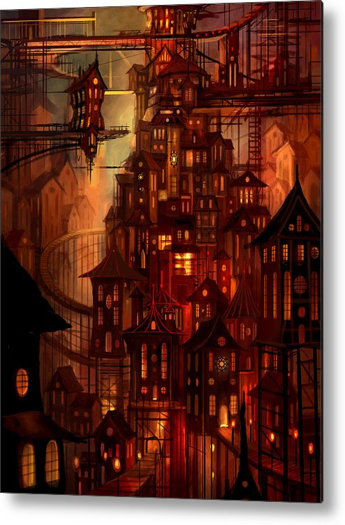 Surreal Metal Print featuring the painting Illuminations by Philip Straub