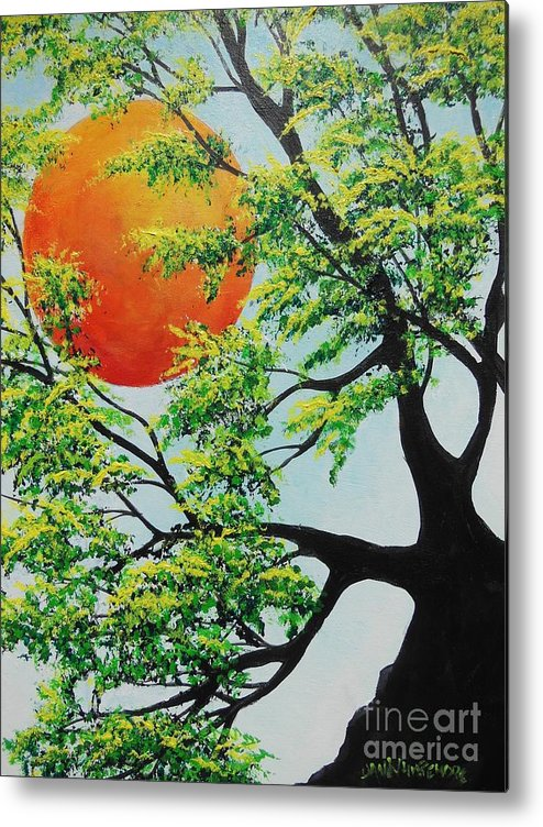 Harvest Moon Metal Print featuring the painting In His Time by Dan Whittemore