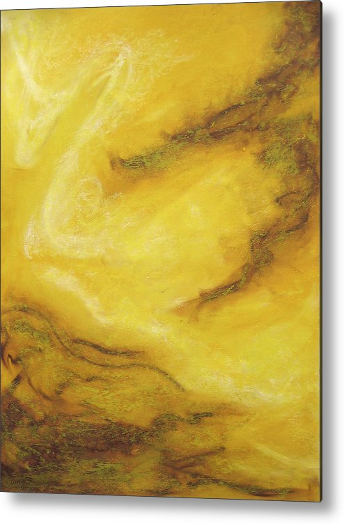 Abstract Metal Print featuring the painting In The Beginning by Wynn Creasy
