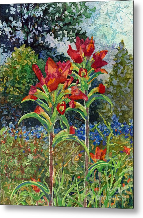 Wild Flower Metal Print featuring the painting Indian Spring by Hailey E Herrera