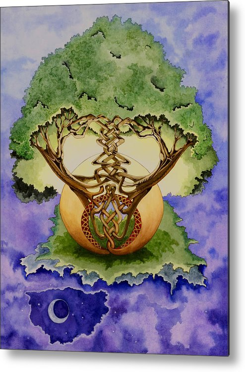 Tree Of Life Metal Print featuring the painting Infinitree by Joyce Hutchinson