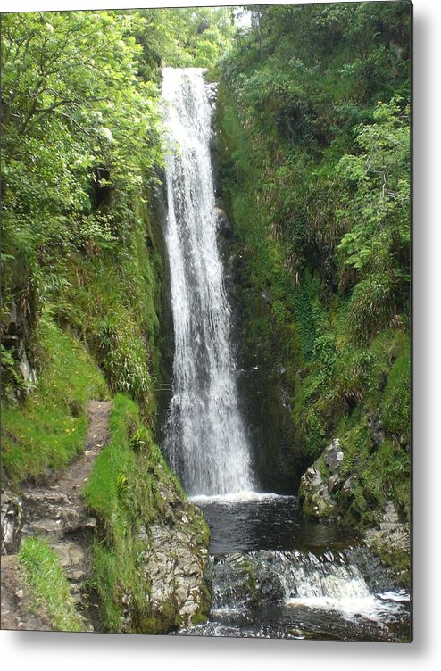 Waterfall Metal Print featuring the photograph Inishowen Fall by Colin O neill