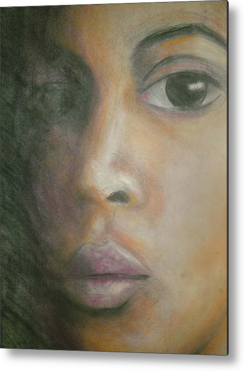 Metal Print featuring the drawing Inside The Soul by Jan Gilmore