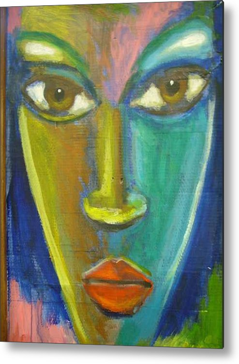 Painting Metal Print featuring the painting Intensity by Jan Gilmore