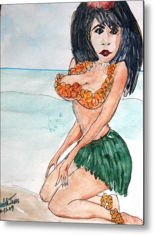 Island Metal Print featuring the painting Island Girl by Meredith Jones