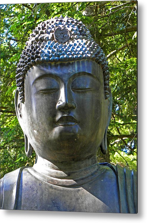 Statue Metal Print featuring the photograph Japanese Buddha by Elizabeth Hoskinson