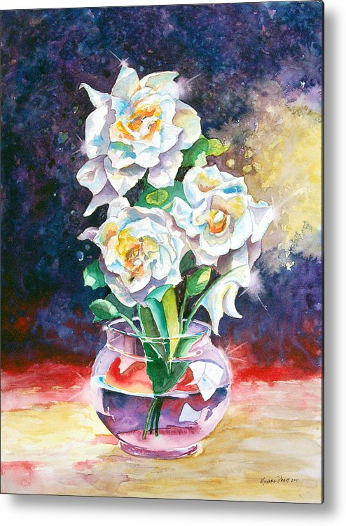 Gardenia Metal Print featuring the painting Joan's Gardenias by Michael Prout