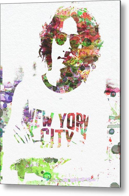 Metal Print featuring the painting John Lennon 2 by Naxart Studio