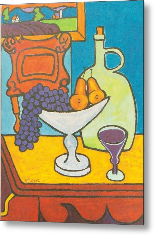 Jug Metal Print featuring the painting Jug Of Wine by Nicholas Martori