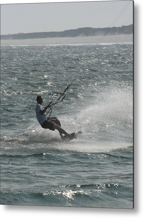 Kite Surfing Metal Print featuring the photograph Kite Surfing 7 by Joyce StJames
