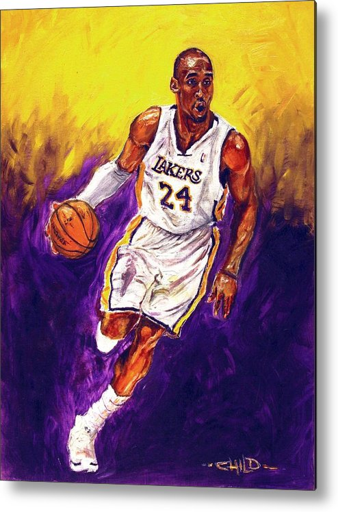 Kobe Bryant Metal Print featuring the painting Kobe by Brian Child