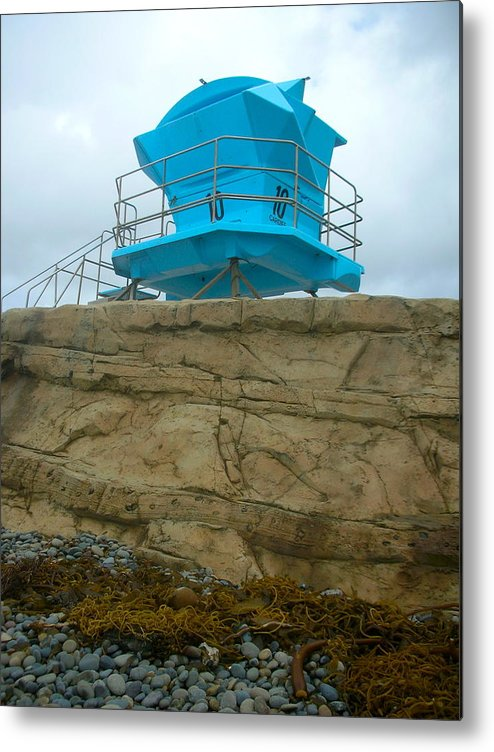 Coastal Art Metal Print featuring the photograph Lifeguard Lookout by Stephanie Troxell