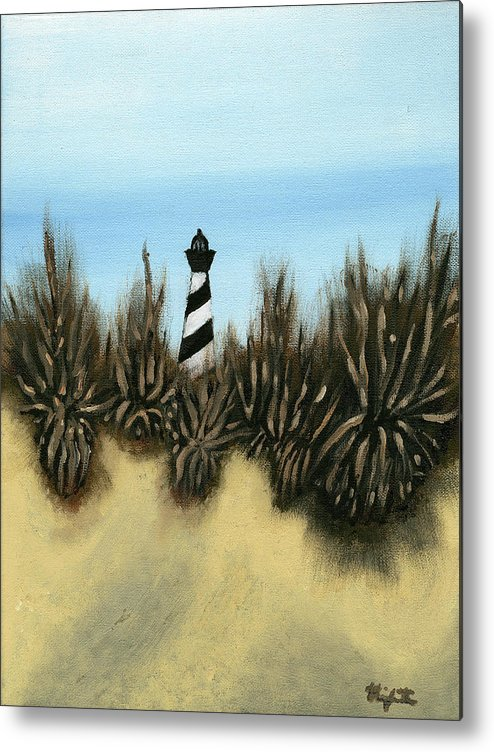 Lighthouse Metal Print featuring the painting Lighthouse by Michael Highsmith