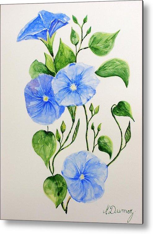 Flowers Metal Print featuring the painting Liseron by Murielle Hebert