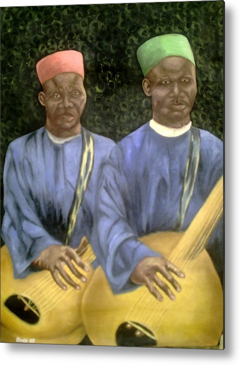 Culture Metal Print featuring the painting Local African Guitarist by Olaoluwa Smith