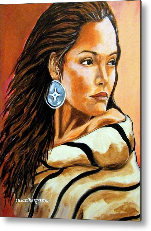 Native American Metal Print featuring the painting Lone Star by Susan Bergstrom