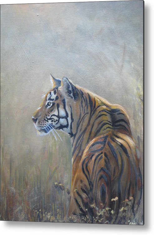 Animal Life Metal Print featuring the sculpture Look Out by Todd Gates